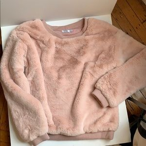Bershka Faux Fur Sweater